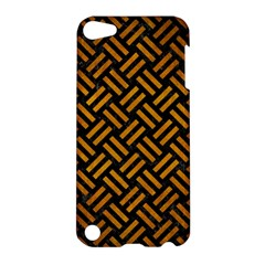 Woven2 Black Marble & Yellow Grunge (r) Apple Ipod Touch 5 Hardshell Case