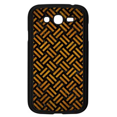 Woven2 Black Marble & Yellow Grunge (r) Samsung Galaxy Grand Duos I9082 Case (black)