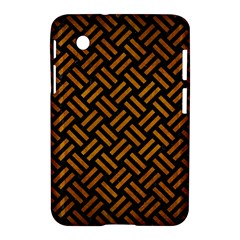 Woven2 Black Marble & Yellow Grunge (r) Samsung Galaxy Tab 2 (7 ) P3100 Hardshell Case