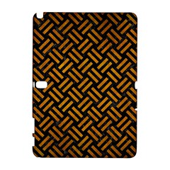 Woven2 Black Marble & Yellow Grunge (r) Galaxy Note 1
