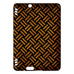 Woven2 Black Marble & Yellow Grunge (r) Kindle Fire Hdx Hardshell Case