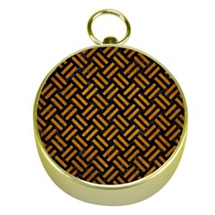 Woven2 Black Marble & Yellow Grunge (r) Gold Compasses