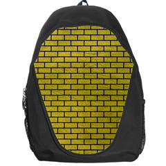 Brick1 Black Marble & Yellow Leather Backpack Bag