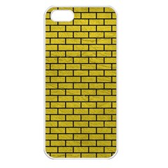 Brick1 Black Marble & Yellow Leather Apple Iphone 5 Seamless Case (white)