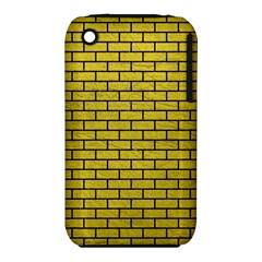 Brick1 Black Marble & Yellow Leather Iphone 3s/3gs