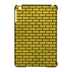 Brick1 Black Marble & Yellow Leather Apple Ipad Mini Hardshell Case (compatible With Smart Cover)