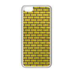 Brick1 Black Marble & Yellow Leather Apple Iphone 5c Seamless Case (white)