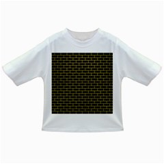 Brick1 Black Marble & Yellow Leather (r) Infant/toddler T Shirts