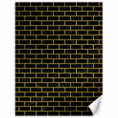 Brick1 Black Marble & Yellow Leather (r) Canvas 18  X 24