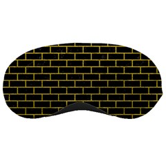 Brick1 Black Marble & Yellow Leather (r) Sleeping Masks