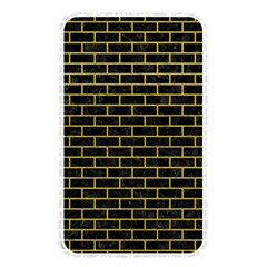 Brick1 Black Marble & Yellow Leather (r) Memory Card Reader