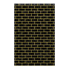 Brick1 Black Marble & Yellow Leather (r) Shower Curtain 48  X 72  (small)