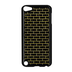 Brick1 Black Marble & Yellow Leather (r) Apple Ipod Touch 5 Case (black)