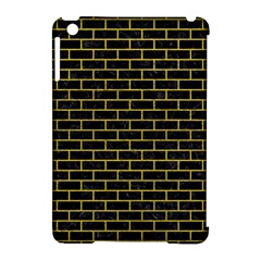 Brick1 Black Marble & Yellow Leather (r) Apple Ipad Mini Hardshell Case (compatible With Smart Cover)
