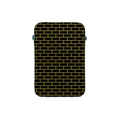 Brick1 Black Marble & Yellow Leather (r) Apple Ipad Mini Protective Soft Cases