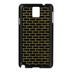 Brick1 Black Marble & Yellow Leather (r) Samsung Galaxy Note 3 N9005 Case (black)