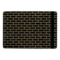 Brick1 Black Marble & Yellow Leather (r) Samsung Galaxy Tab Pro 10 1  Flip Case
