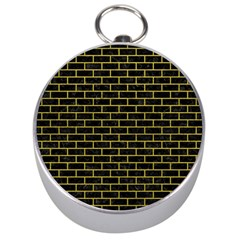 Brick1 Black Marble & Yellow Leather (r) Silver Compasses