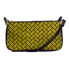 Brick2 Black Marble & Yellow Leather Shoulder Clutch Bags