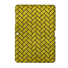 Brick2 Black Marble & Yellow Leather Samsung Galaxy Tab 2 (10 1 ) P5100 Hardshell Case