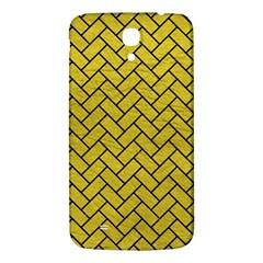 Brick2 Black Marble & Yellow Leather Samsung Galaxy Mega I9200 Hardshell Back Case