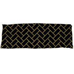 Brick2 Black Marble & Yellow Leather (r) Body Pillow Case Dakimakura (two Sides)