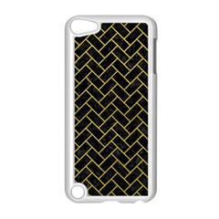 Brick2 Black Marble & Yellow Leather (r) Apple Ipod Touch 5 Case (white)