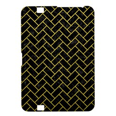 Brick2 Black Marble & Yellow Leather (r) Kindle Fire Hd 8 9