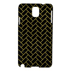 Brick2 Black Marble & Yellow Leather (r) Samsung Galaxy Note 3 N9005 Hardshell Case