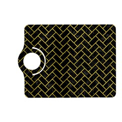 Brick2 Black Marble & Yellow Leather (r) Kindle Fire Hd (2013) Flip 360 Case