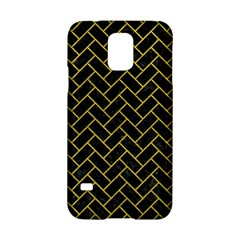 Brick2 Black Marble & Yellow Leather (r) Samsung Galaxy S5 Hardshell Case