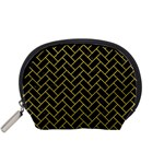 BRICK2 BLACK MARBLE & YELLOW LEATHER (R) Accessory Pouches (Small)  Front