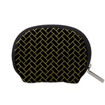 BRICK2 BLACK MARBLE & YELLOW LEATHER (R) Accessory Pouches (Small)  Back
