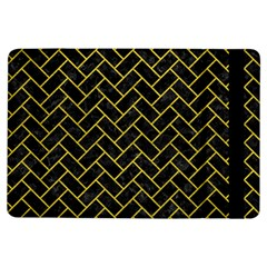 Brick2 Black Marble & Yellow Leather (r) Ipad Air Flip