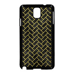 Brick2 Black Marble & Yellow Leather (r) Samsung Galaxy Note 3 Neo Hardshell Case (black)