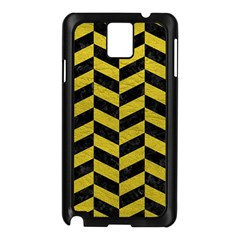 Chevron1 Black Marble & Yellow Leather Samsung Galaxy Note 3 N9005 Case (black)