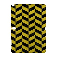 Chevron1 Black Marble & Yellow Leather Galaxy Note 1