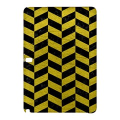 Chevron1 Black Marble & Yellow Leather Samsung Galaxy Tab Pro 12 2 Hardshell Case