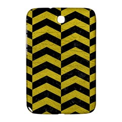 Chevron2 Black Marble & Yellow Leather Samsung Galaxy Note 8 0 N5100 Hardshell Case
