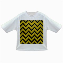 Chevron9 Black Marble & Yellow Leather Infant/toddler T Shirts