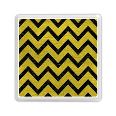 Chevron9 Black Marble & Yellow Leather Memory Card Reader (square)