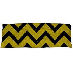 Chevron9 Black Marble & Yellow Leather Body Pillow Case Dakimakura (two Sides)