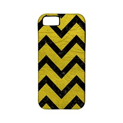 Chevron9 Black Marble & Yellow Leather Apple Iphone 5 Classic Hardshell Case (pc+silicone)