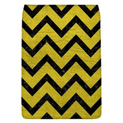 Chevron9 Black Marble & Yellow Leather Flap Covers (l)