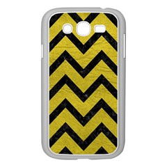 Chevron9 Black Marble & Yellow Leather Samsung Galaxy Grand Duos I9082 Case (white)