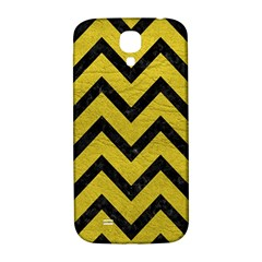 Chevron9 Black Marble & Yellow Leather Samsung Galaxy S4 I9500/i9505  Hardshell Back Case