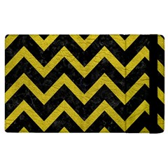 Chevron9 Black Marble & Yellow Leather (r) Apple Ipad 2 Flip Case
