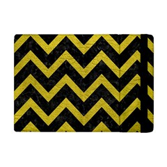 Chevron9 Black Marble & Yellow Leather (r) Apple Ipad Mini Flip Case