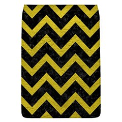 Chevron9 Black Marble & Yellow Leather (r) Flap Covers (l)