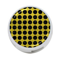 Circles1 Black Marble & Yellow Leather 4 Port Usb Hub (one Side)